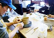 鎌倉陶芸教室、村上工房教室内風景